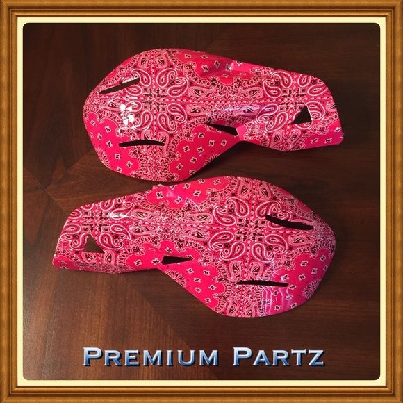 "SOLD!!!! These are custom hydro-dipped motorcycle hand guards, comes complete with mounting kit. Fits most motorcycle, atv's & dirt bikes handle bar figment 22mm 7/8"". Please note there will be excess film on the back of the hand guards from the hydro dip process , be the first to own these exclusive hand guards. Makes an awesome gift on sell now Premium Partz Accessories"