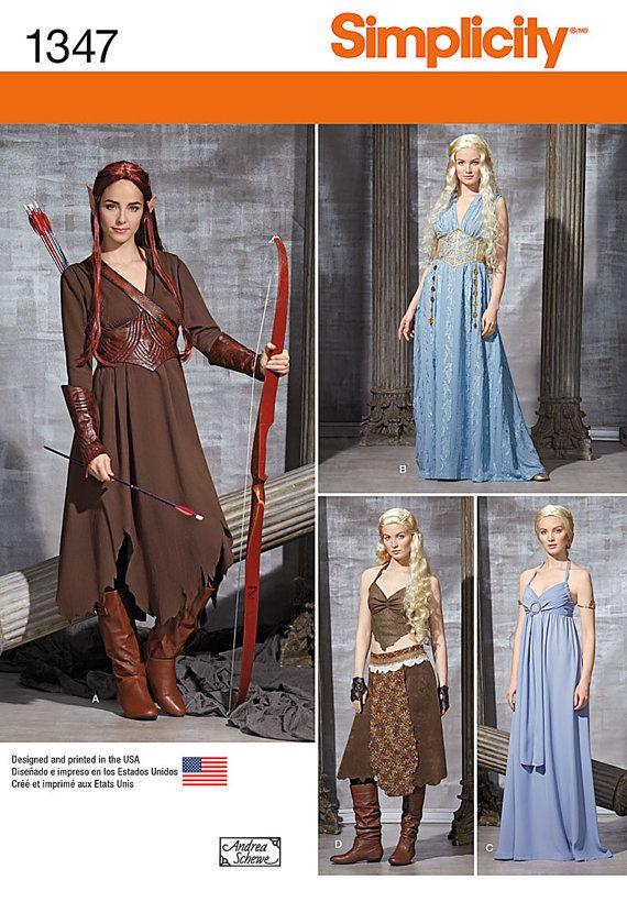 Game of Thrones~KHALEESI / Hobbit Elf~TAURIEL Costume Pattern by ...