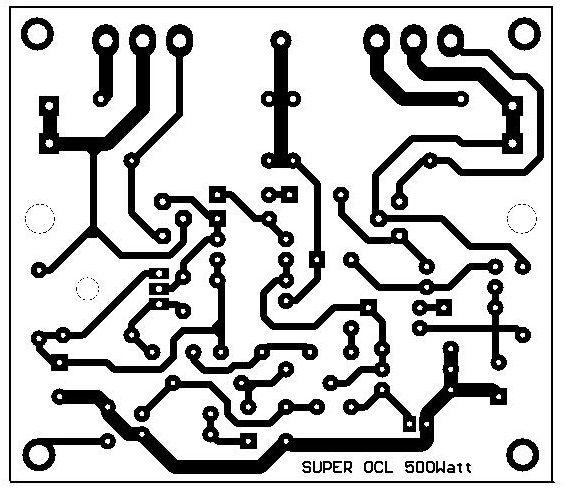 Skema Pcb Power Amplifier Ocl 500 Watt