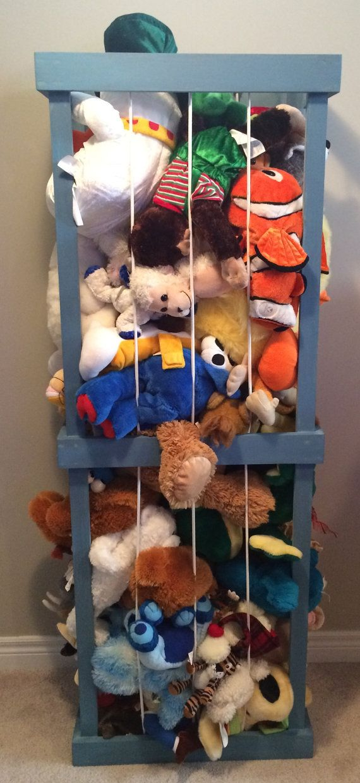 3u0027 Stuffed Animal Cage/Zoo/Storage Painted By TheLittleYellowBarn