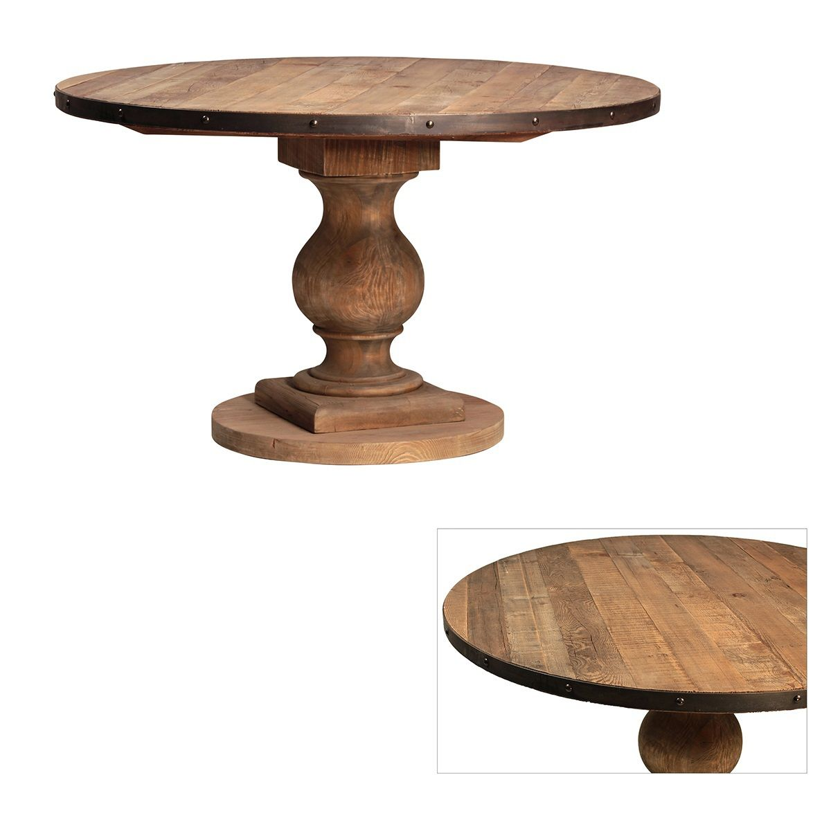 Farmhouse Round Pedestal Table Pinterest Round Farmhouse - 50 inch round pedestal table