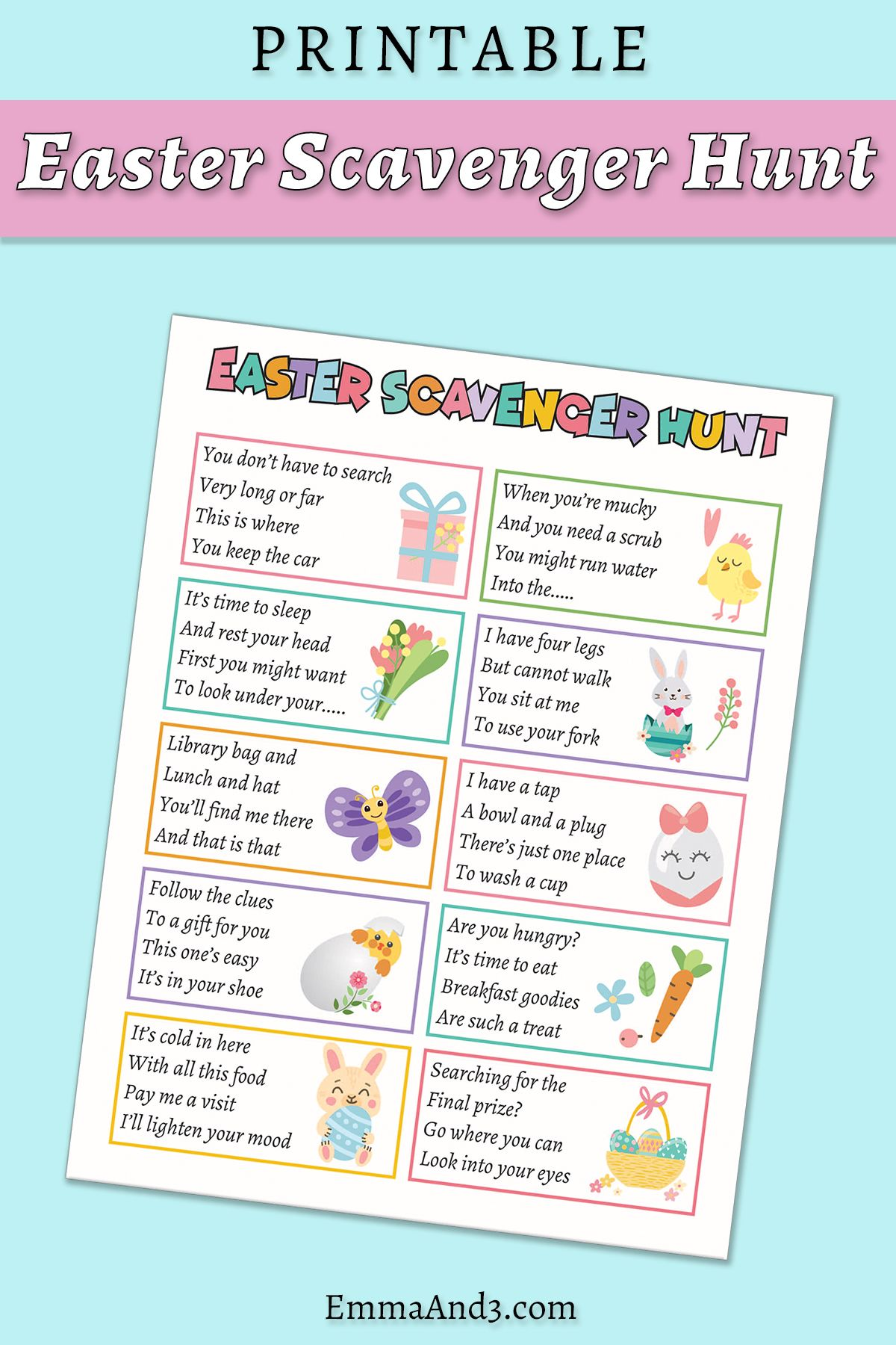 Outdoor Easter Egg Hunt Clues Amp Ideas You Can Print At
