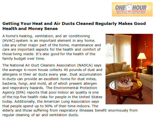 Getting Your Heat and Air Ducts Cleaned Regularly Makes