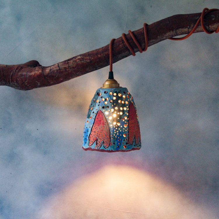 One Large Pendant Light #pendantlighting in 2020   Ceramic ...