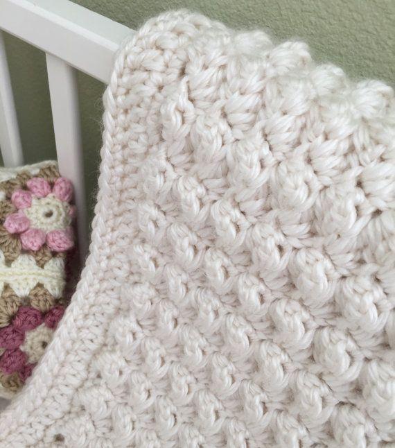 Crochet bebé manta patrón manta ganchillo por DeborahOLearyPattern ...