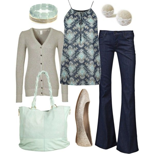 Muted mint and casual classy