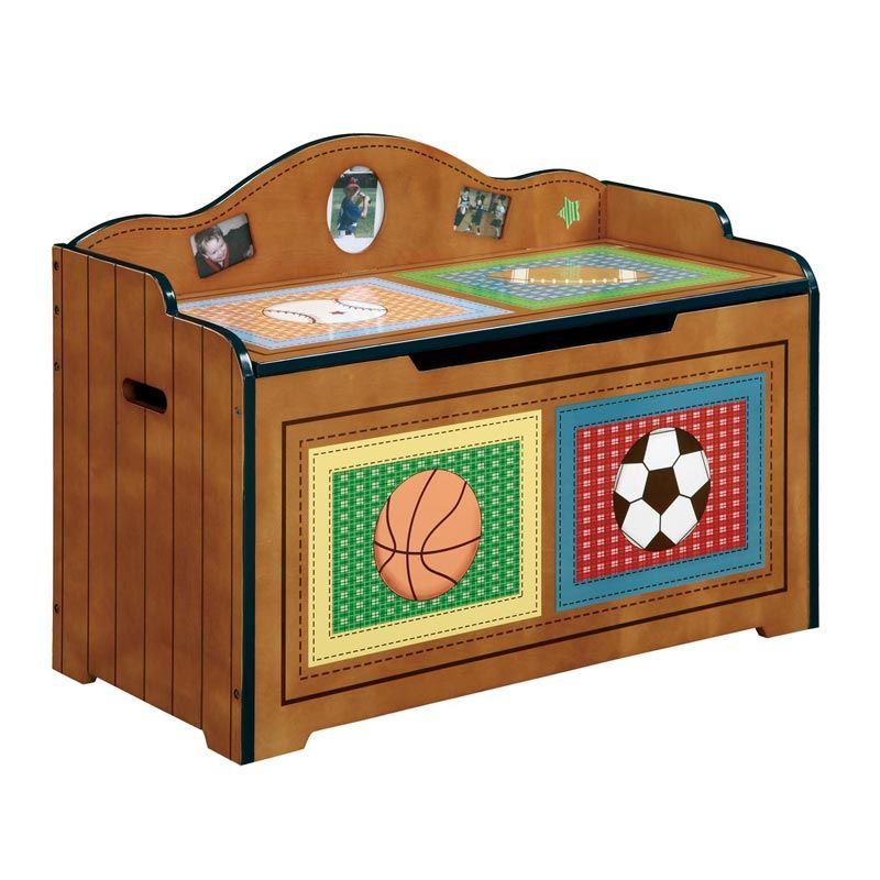 Attrayant Kids Sports Toy Box : Furniture Kids Rooms Unique Kids Gifts Kids Toy Chest  Little Sports Fan