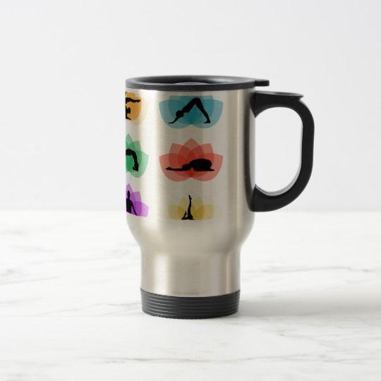 yoga and meditation symbols travel mug  coffee mug, tea mug #mugs #mugcoffee #mugtea #coolmug #ideas #gift => Check out this mug by clicking the image, have fun :) Please tag, repin & share with your friends who would love it.