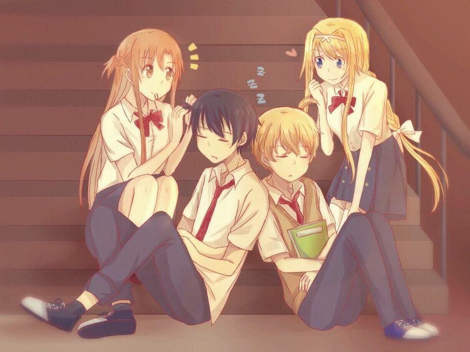 Asuna x Kirito Alice x Eugeo   Kirito and Asuna   Sword art