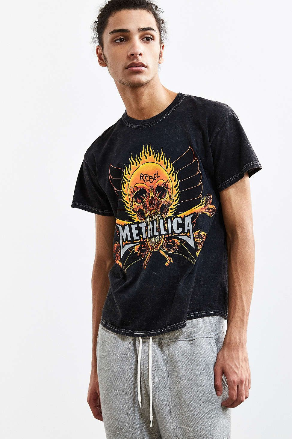Black t shirt urban outfitters - Metallica Fire And Ice Tee