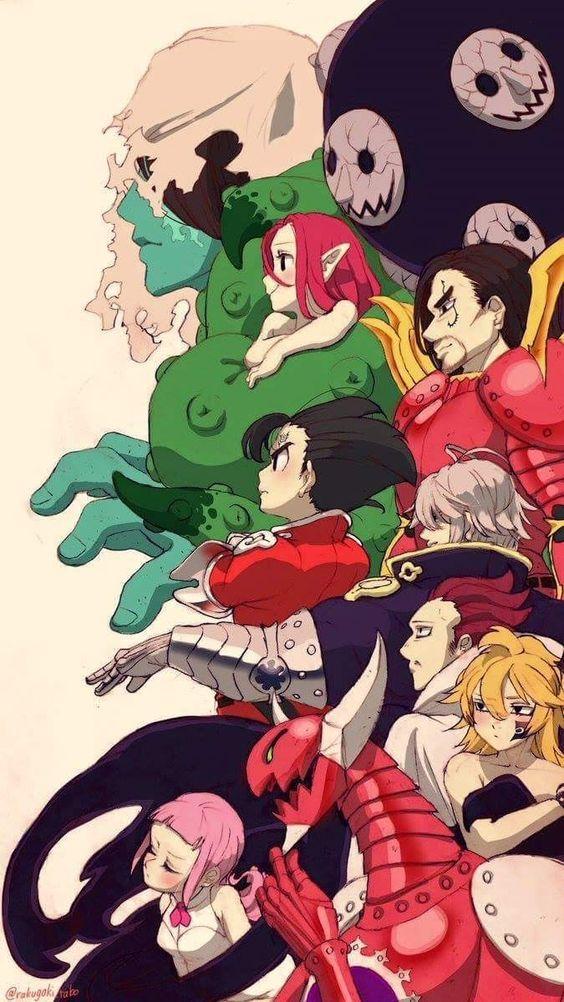 Nanatsu No Taizai Los 10 Mandamientos Pecados Capitales 7 Pecados Anime 7 Pecados Capitales