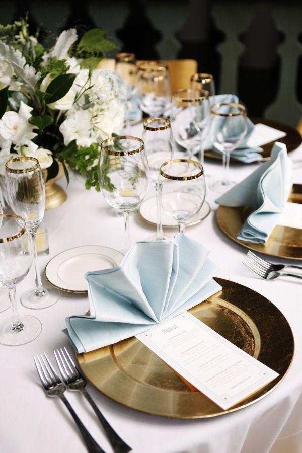1920 Inspired Decor Napkin Design Wedding Table Settings Table