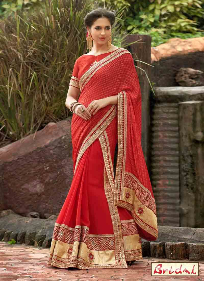 3cf918abdc7adc Best Indian Bridal Saree Designs For Weddings In 2019 | Sarees ...