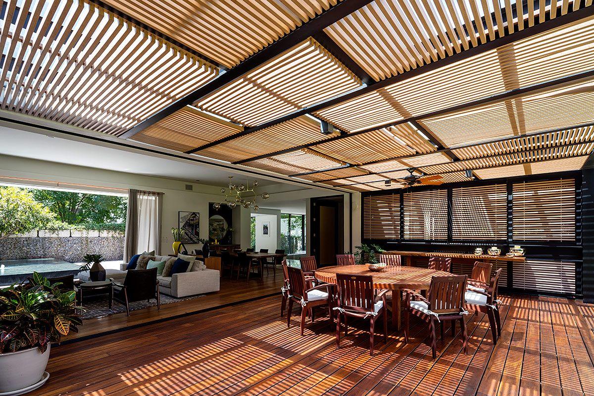 Pin De Paula Huerta Em Tropical Architecture Casas Pergola Patio Arquitetonico