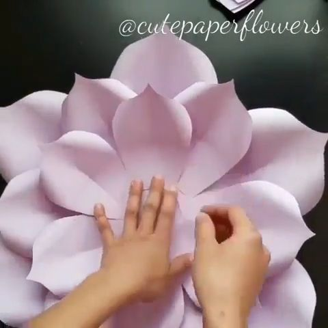 No.6 Instant download PDF paper flowers template paper | Etsy