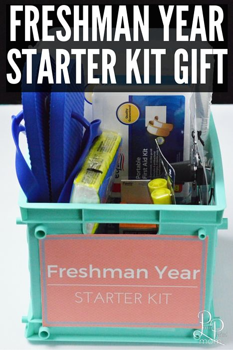 Create this freshman year starter gift kit for your favorite college student! & Awesome College Freshman Gift Idea - Freshman Starter Kit | Other ...