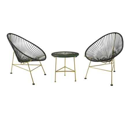 Homesense Spring 2016 Modern Conversation 3 Piece Acapulco Chat Set Piecesoutdoor Lounge Chairshomesensethe