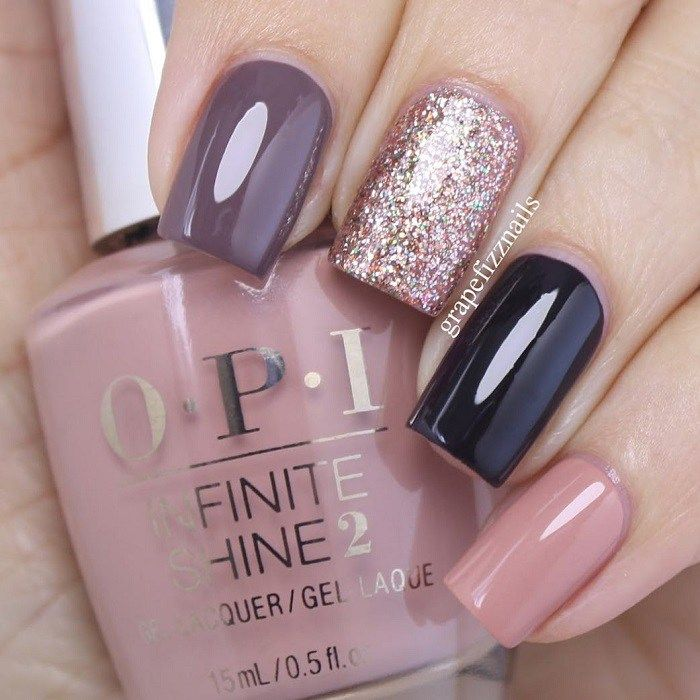 Mix and Match Nail Polish Colors for Fall,glitter nail match dark ...
