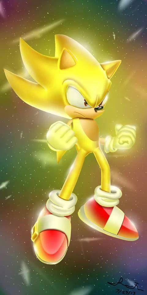 Super Sonic The Hedgehog Sonic The Hedgehog Sonic Hedgehog