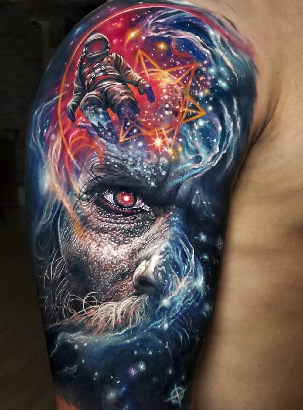 Jaw Dropping Face Tatto