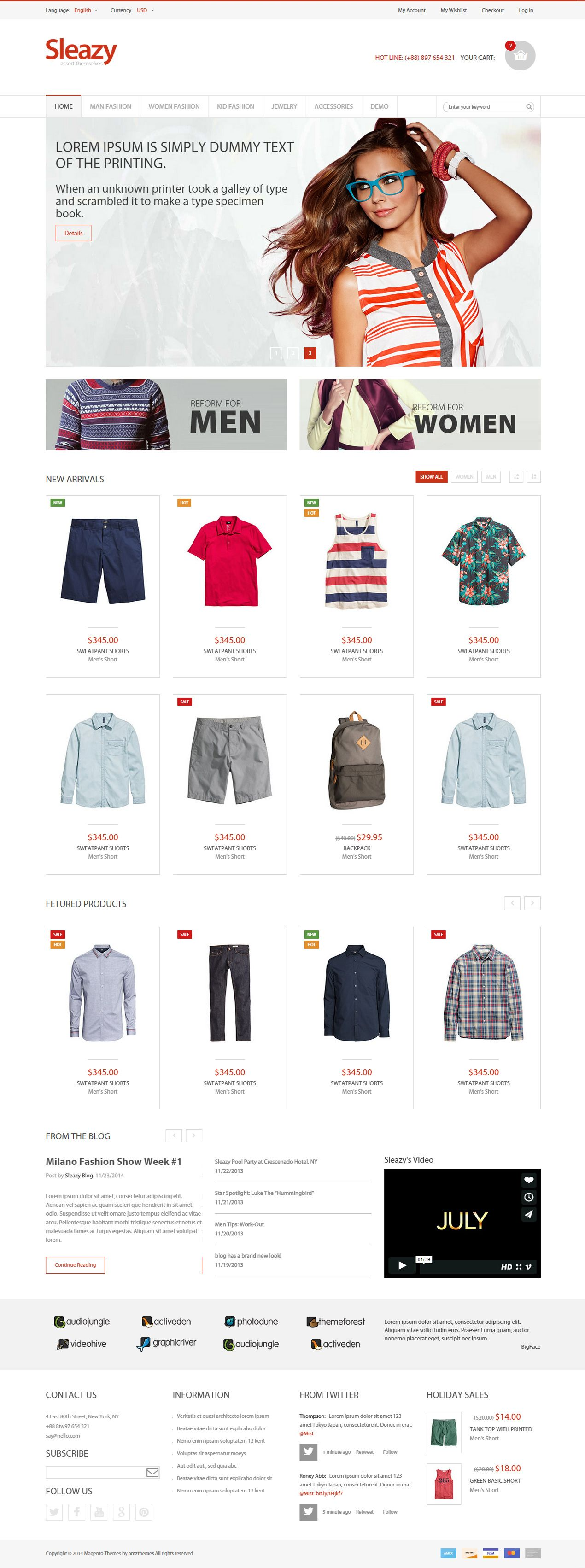 Sleazy is Premium full Responsive eCommerce template. Bootstrap ...