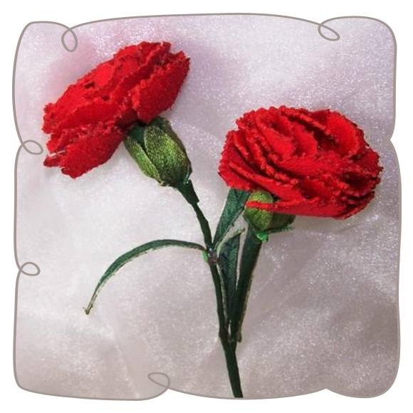 3d Red Carnation Machine Embroidery Design Pattern Instant Download Fabric Flowers Embroidery Flowers Machine Embroidery Designs