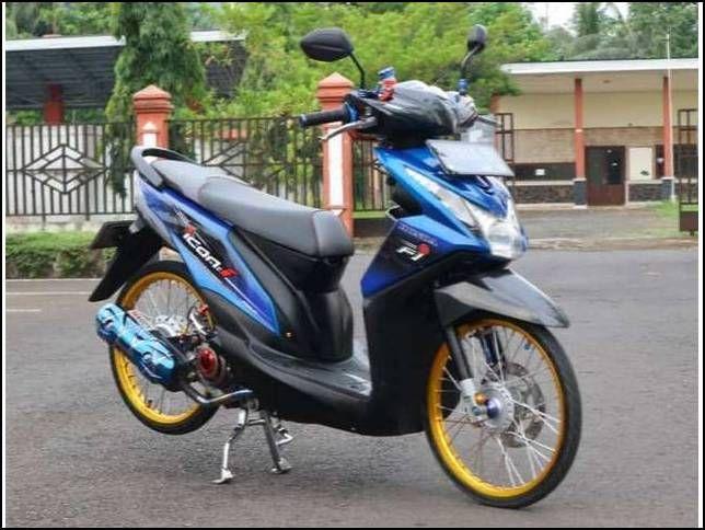Inilah 11 Modifikasi Motor Beat Fi Simple Tapi Keren Lowrider Motor Motor Honda