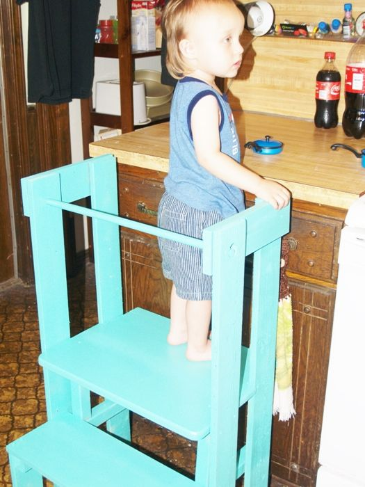 Home Built Stepping Stool For Kitchen Helpers