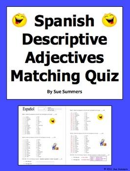 Spanish adjectives of people and nounadjective agreement quiz or spanish adjectives of people and nounadjective agreement quiz by sue summers 30 descriptive platinumwayz