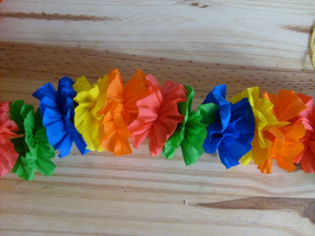 Tuto Fleur En Papier pour collier hawaiien : le tuto - le blog de marlenecreation