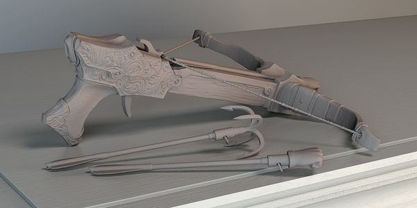 3D Harpoon on Behance by Konrad Dobson