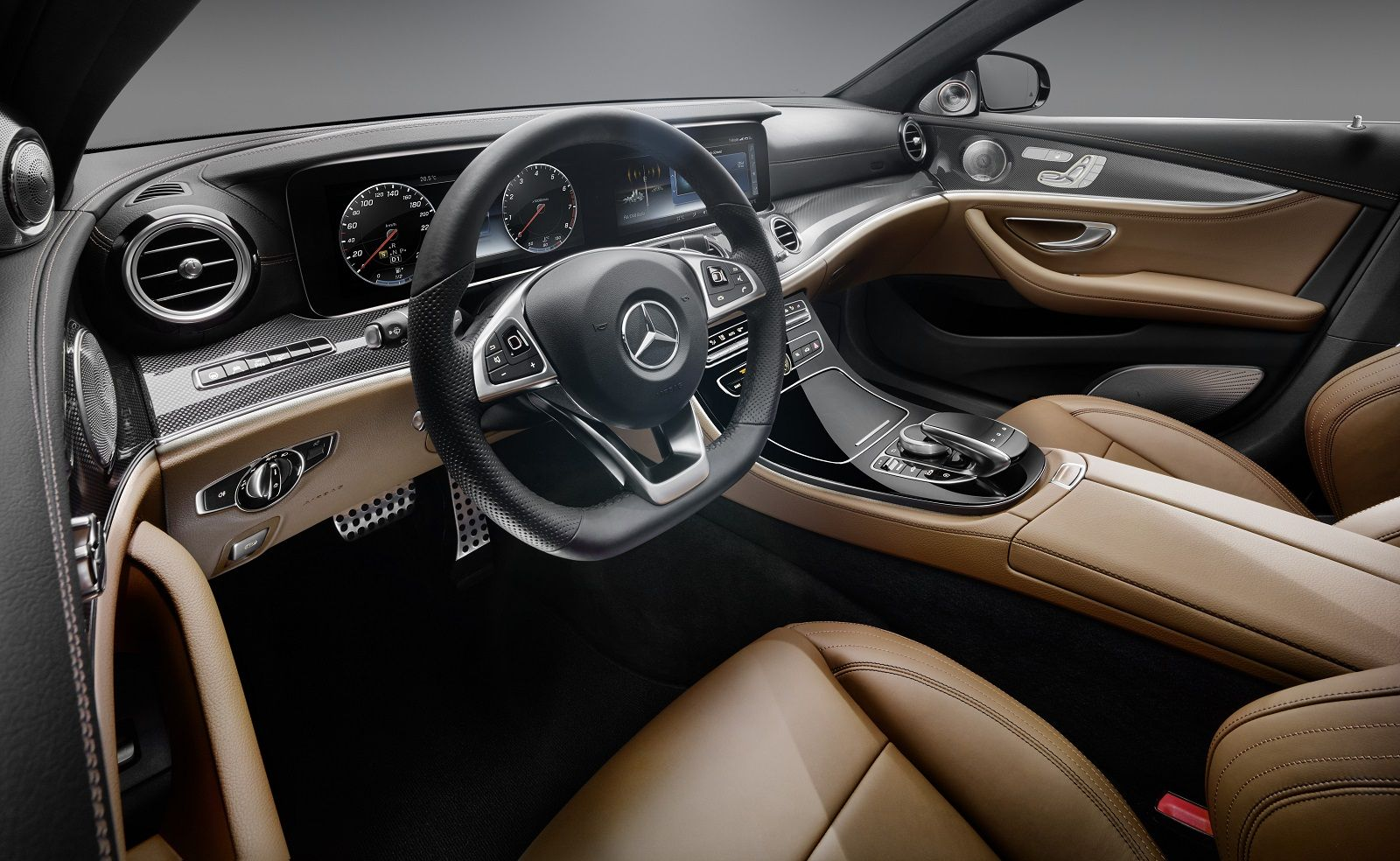 2017 Mercedes Benz E Class Interior Revealed All Glass Dash