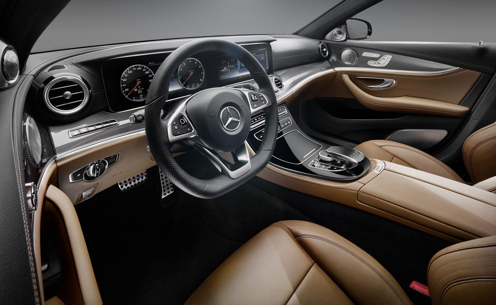 2017 Mercedes-Benz E-Class Interior Revealed, All-Glass Dash ...