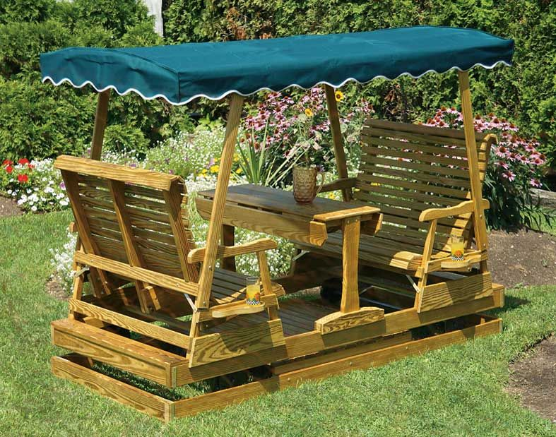 Perfect Treated Pine Mesa Glider They Had Something Like These At Duke University  On Our Tour This. Outdoor GliderOutdoor SwingsGarden ...