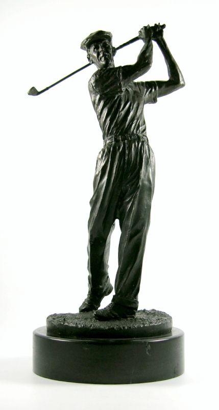 Ben Hogan Solid Bronze Statue by Ron Tunison Green Jacket Auctions ...