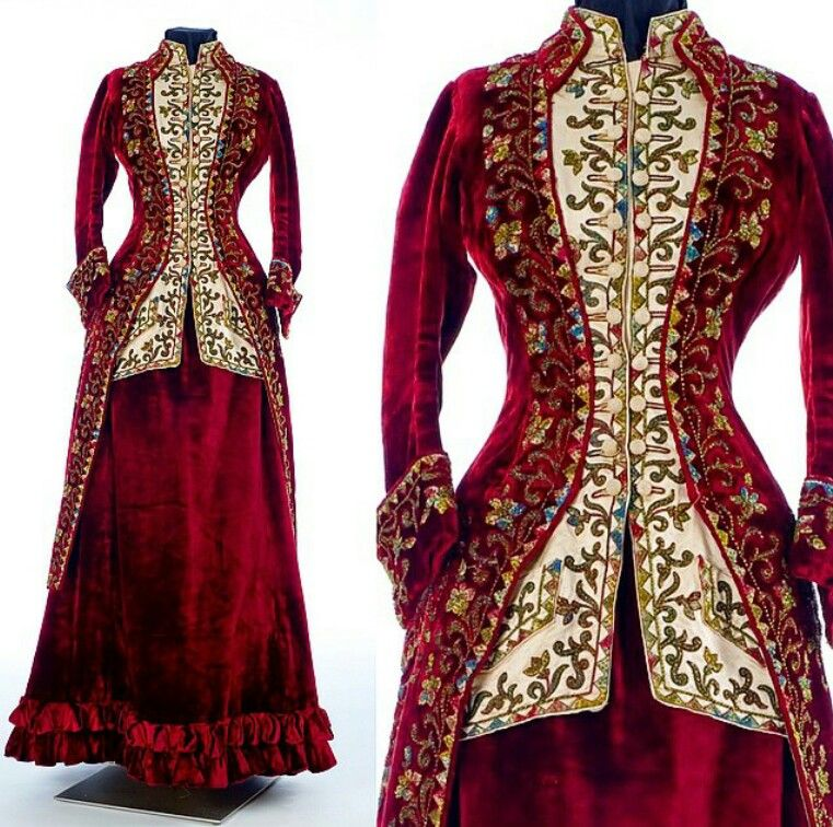 1885 woman's ensemble Emile Pingat