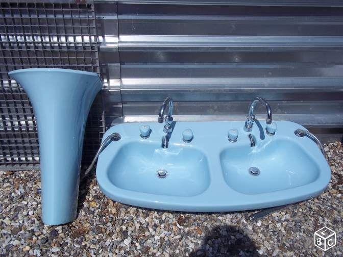 Lavabo Ancien Double Bleu Ameublement Seine Maritime Leboncoin Fr Lavabo Ancien Ameublement Lavabo