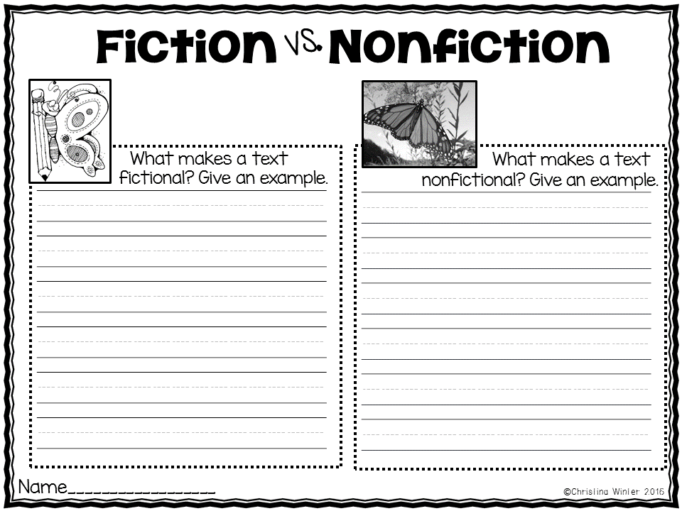 Fiction VS Nonfiction Teaching Ideas – Nonfiction Worksheets