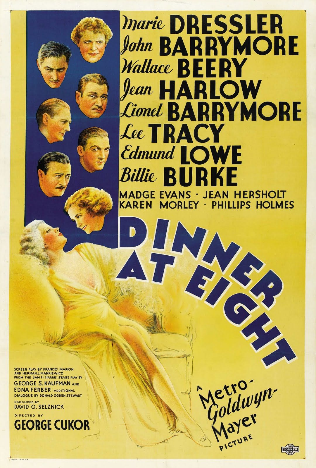 """""""Dinner at Eight"""" (1933). Director: George Cukor."""