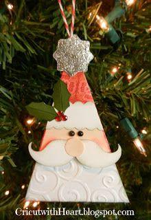 Cricut with Heart: Santa Ornament