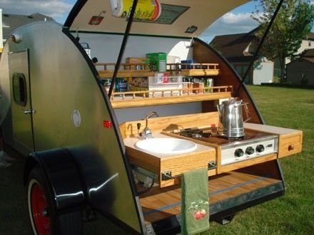 Glorious Backend Of A Teardrop Camper By Sherrie Teardrop Camper