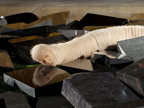 Jan Fabre Jan Fabre worm Whimsy Pinterest Art installation Contemporary