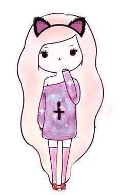 Desenho Kawaii Tumblr Cute Girl Veja Aqui Doodles Desenhos