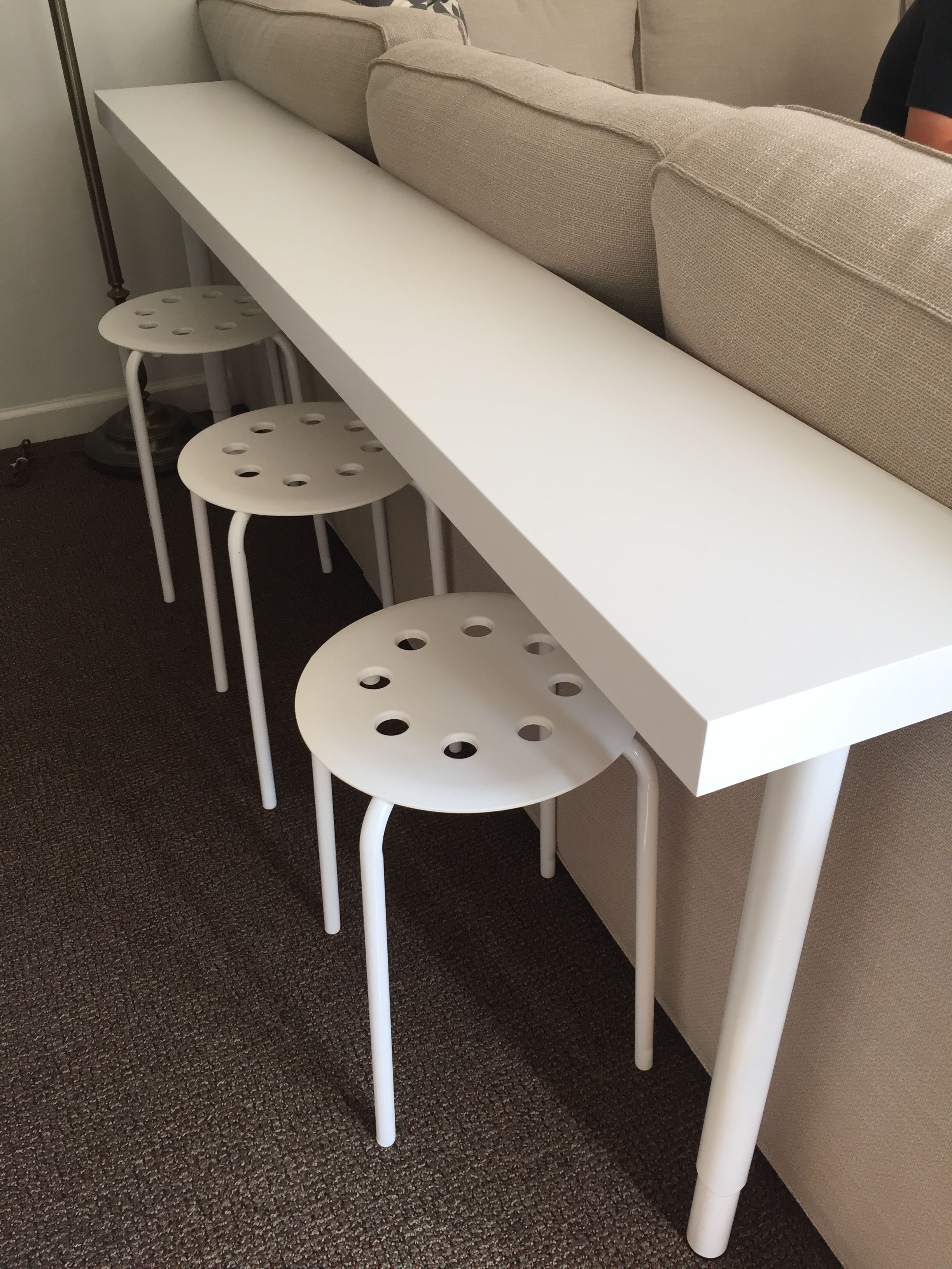 Interio Sofa Caddy Ikea Hack We Needed A Sofa Table In A Narrow Space This Lack