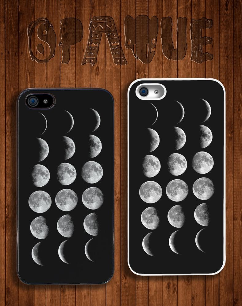 iPHONE 5/5S HARD CASE - MOON PHASES DESIGN - HIPSTER INDIE GRUNGE ...