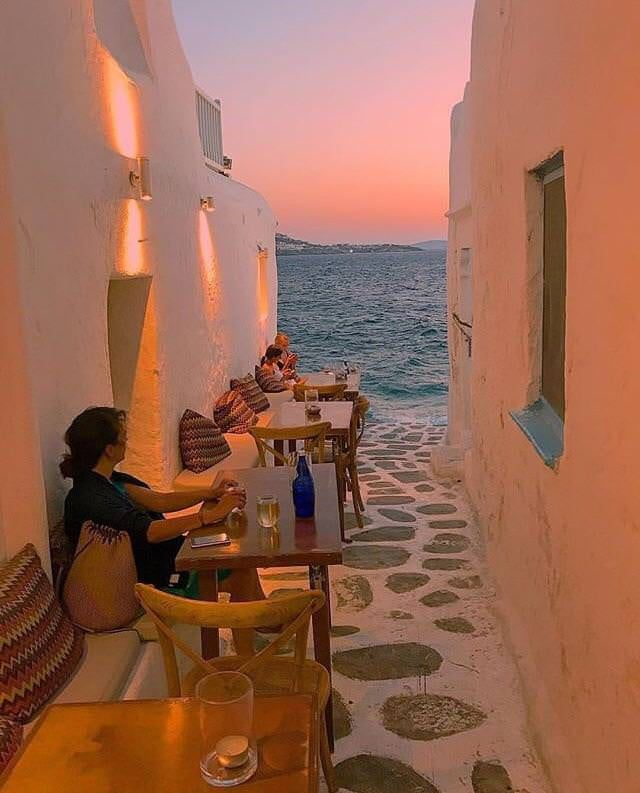 A sunset view in Greece