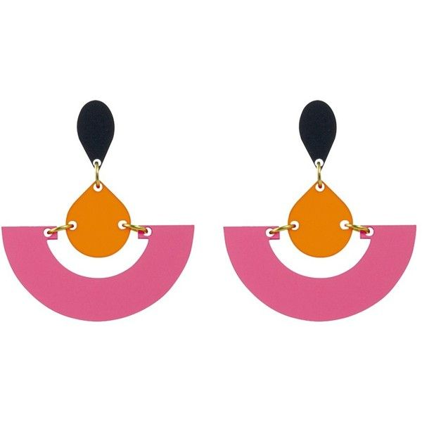 Pink Earrings John Lewis Liked On Polyvore Featuring Jewelry