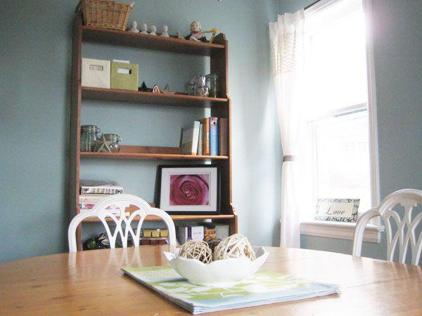 Ikea Leksvik Piney BookshelfThe Walls Are Painted Benjamin Moores Gossamer Blue