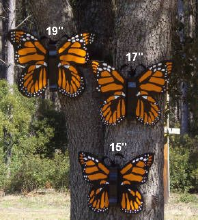 Large Outdoor Butterflies Large Handmade Wood Outdoor Butterfly