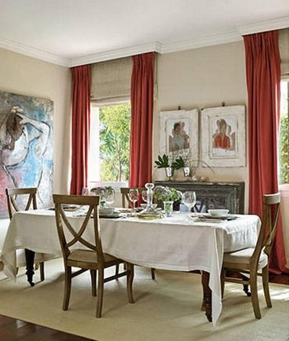 Orange And Red Dining Rooms
